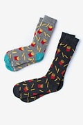French Fries Multicolor His & Hers Socks