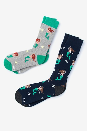 Mermaids Are Real Multicolor His & Hers Socks