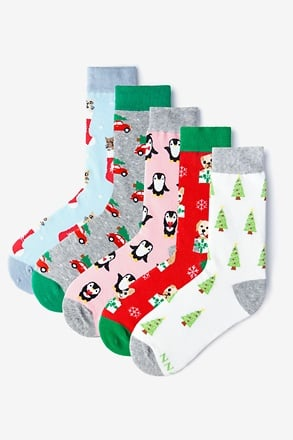 _Merry & Bright Women's Multicolor Sock Pack_