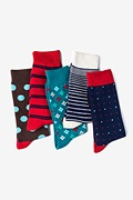Multicolor Carded Cotton Newton Sock Pack
