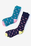 Multicolor Carded Cotton Oh Snap! His & Hers Socks