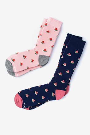 One in a Melon His & Hers Socks