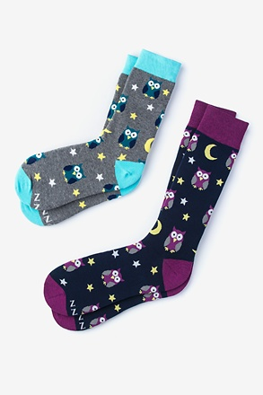 Owl Night Long His & Hers Socks
