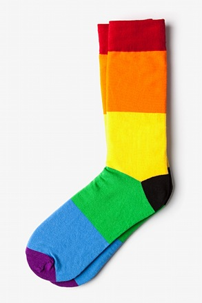 _Rainbow Stripe Multicolor Sock_