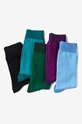 Multicolor Carded Cotton Rich Solids Sock Pack