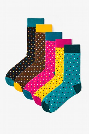 _Santa Ana 5 Multicolor Sock Pack_