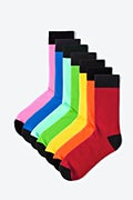 Multicolor Carded Cotton Spectrum 8 Sock Pack