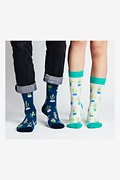 Succulent Multicolor His & Hers Socks Photo (1)