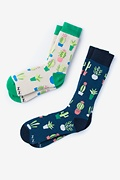 Succulent Multicolor His & Hers Socks Photo (0)