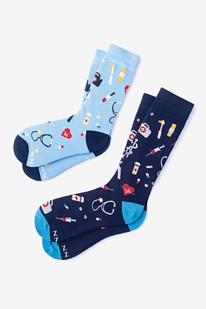 _WHAT'S UP DOC? MULTICOLOR HIS & HERS SOCKS Multicolor His & Hers Socks_