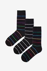 Multicolor Carded Cotton Whittier 3 Pack Socks