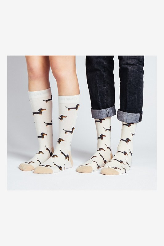 Wiener Dog Multicolor His & Hers Socks Photo (1)