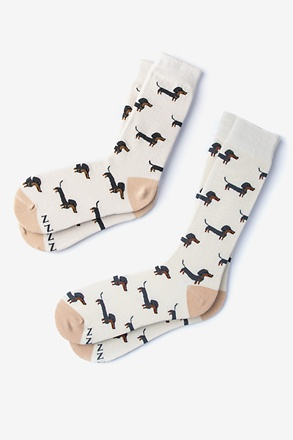 Wiener Dog Multicolor His & Hers Socks
