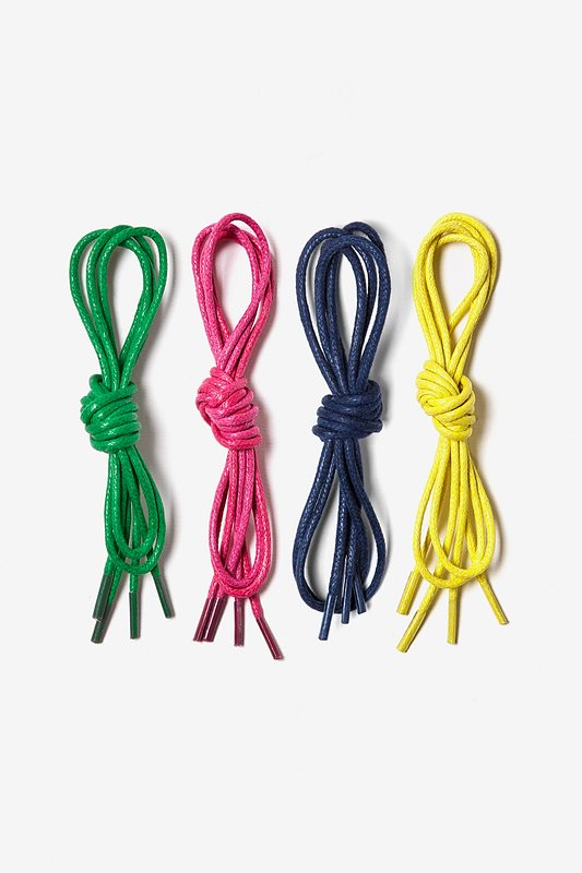 4 Pack Waxed Multicolor Shoelaces Photo (0)