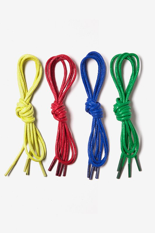 Bright & Bold 4 Pack Waxed Shoelaces