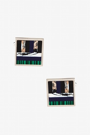 _Art Stripe Cufflinks_