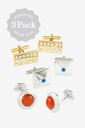 Assorted 3 Pack Cufflink Grab Bag