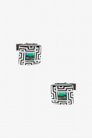 Decorative Square Setting Cufflinks