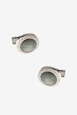 Embellished Round Iridescent Cufflinks
