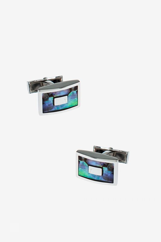 Iridescent Rectangle Cufflinks