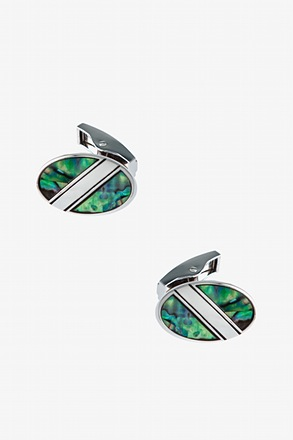 _Iridescent Split Cufflinks_