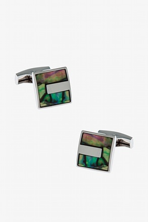 _Iridescent Square Cufflinks_