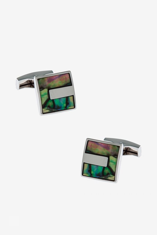 Iridescent Square Multicolor Cufflinks Photo (0)