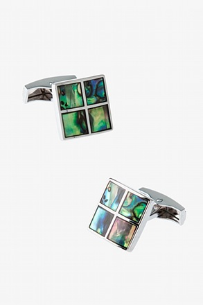 Iridescent Windowpane Cufflinks