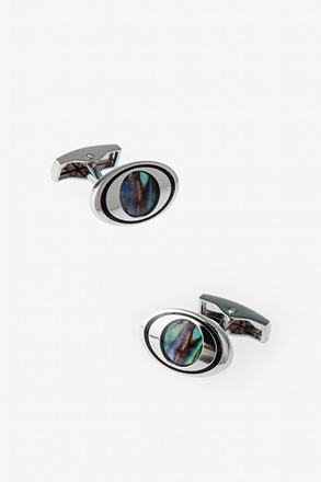 Oval Iridescent Eye Cufflinks
