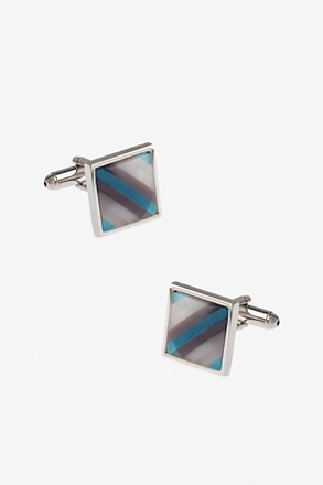 Patterned Square Multicolor Cufflinks