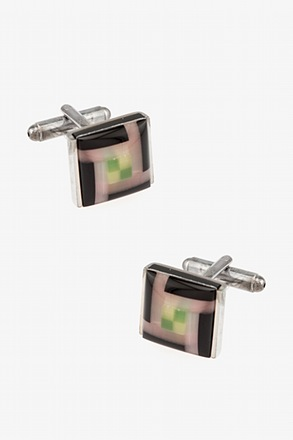 Pixels Square Cufflinks