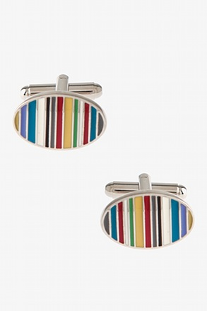 Rainbow Oval Cufflinks