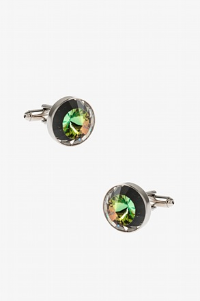 _Rounded Peaks Multicolor Cufflinks_