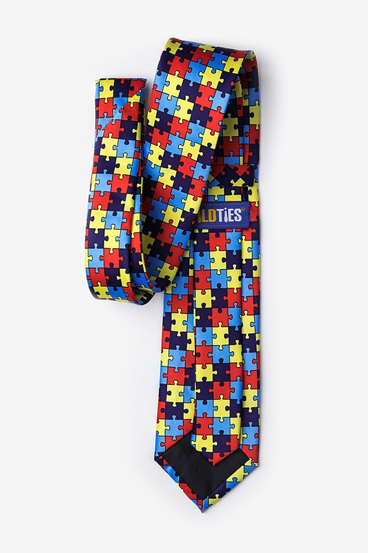 Autism Awareness Puzzle Extra Long Tie