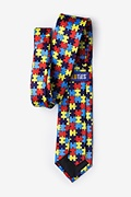Autism Awareness Puzzle Multicolor Tie