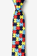 Multicolor Microfiber Autism Awareness Puzzle Tie For Boys