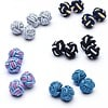 Multicolor Polyester Knot Cufflink Set