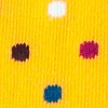 Mustard Carded Cotton Santa Ana Polka Dot Sock