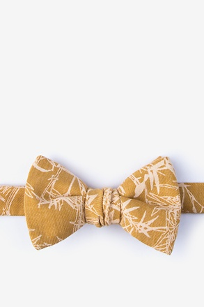 Ace Mustard Self-Tie Bow Tie