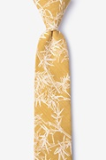 Mustard Cotton Ace Skinny Tie