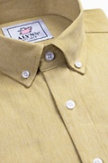 Caden Mustard Classic Fit Casual Shirt