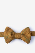 Mustard Cotton Harley Butterfly Bow Tie