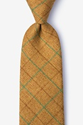 Mustard Cotton Harley Extra Long Tie