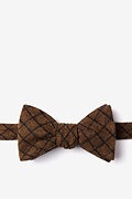 Mustard Cotton San Luis Self-Tie Bow Tie
