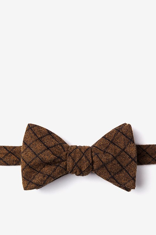San Luis Mustard Self-Tie Bow Tie Photo (0)