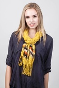Ribbon Stripe Mustard Scarf by Scarves.com