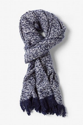 Navy Blue Baltimore Heathered Scarf
