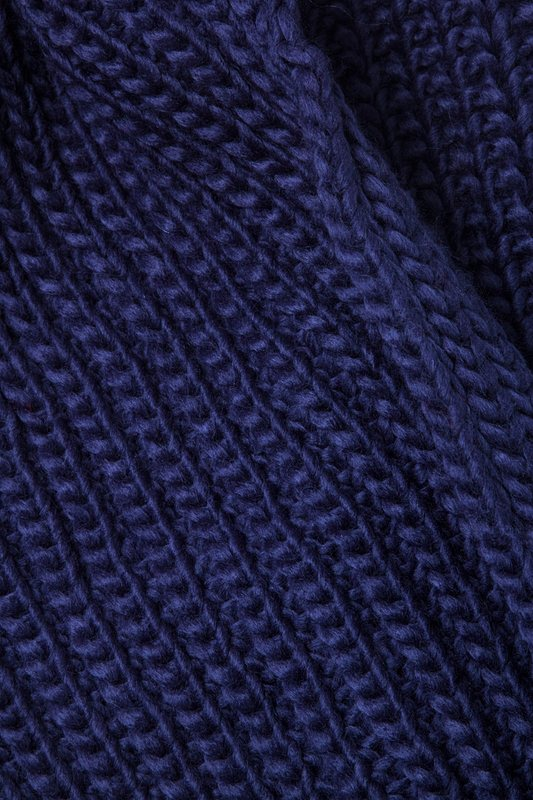 Navy Blue Concord Knit Infinity Scarf