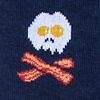 Navy Blue Carded Cotton Bacon & Eggs Breakfast