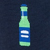 Navy Blue Carded Cotton Beer Me